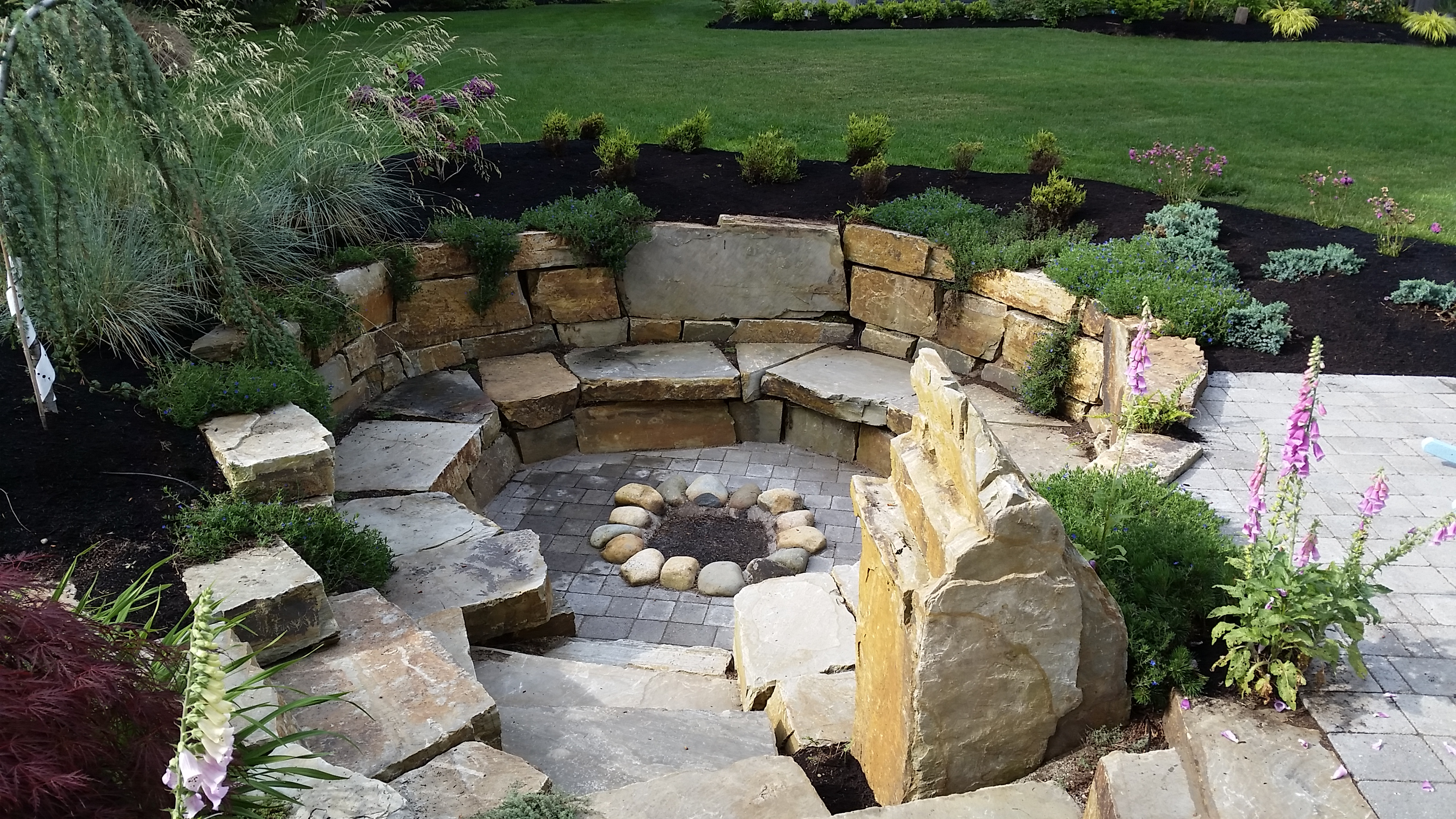 Square Fire Pit Ideas Seaside Firepit Traditional Brick